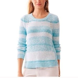 Lilly Pulitzer Striped Ombre Pullover Sweater MED